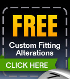FREE Custom Fitting Alterations! - (click) here for your coupon