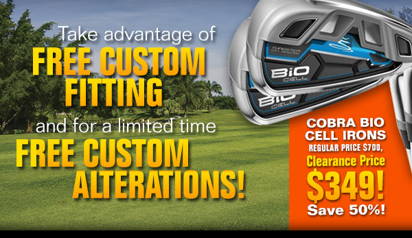 Take advantage of Free Custom Fitting and for a limited time Free Custom Alterations! | Cobra Bio Cell Irons