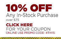 10% OFF Any Purchase - (click) here for your coupon
