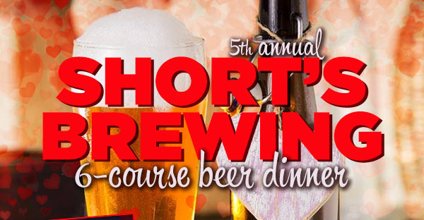 5th annual Short's Brewing 6-course beer dinner