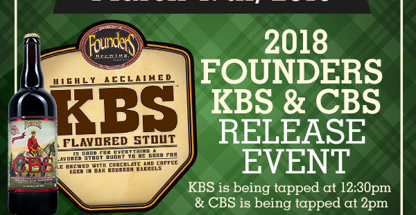 2018 Founders KBS Rekease Event. KBS is Being Tapped at 12:30pm & CBS is being tapped at 2pm.