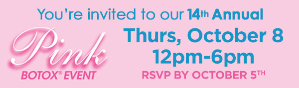 You're invited to our 14th Annual - Thursday, October 8 | 12pm-6pm | RSVP by October 5th